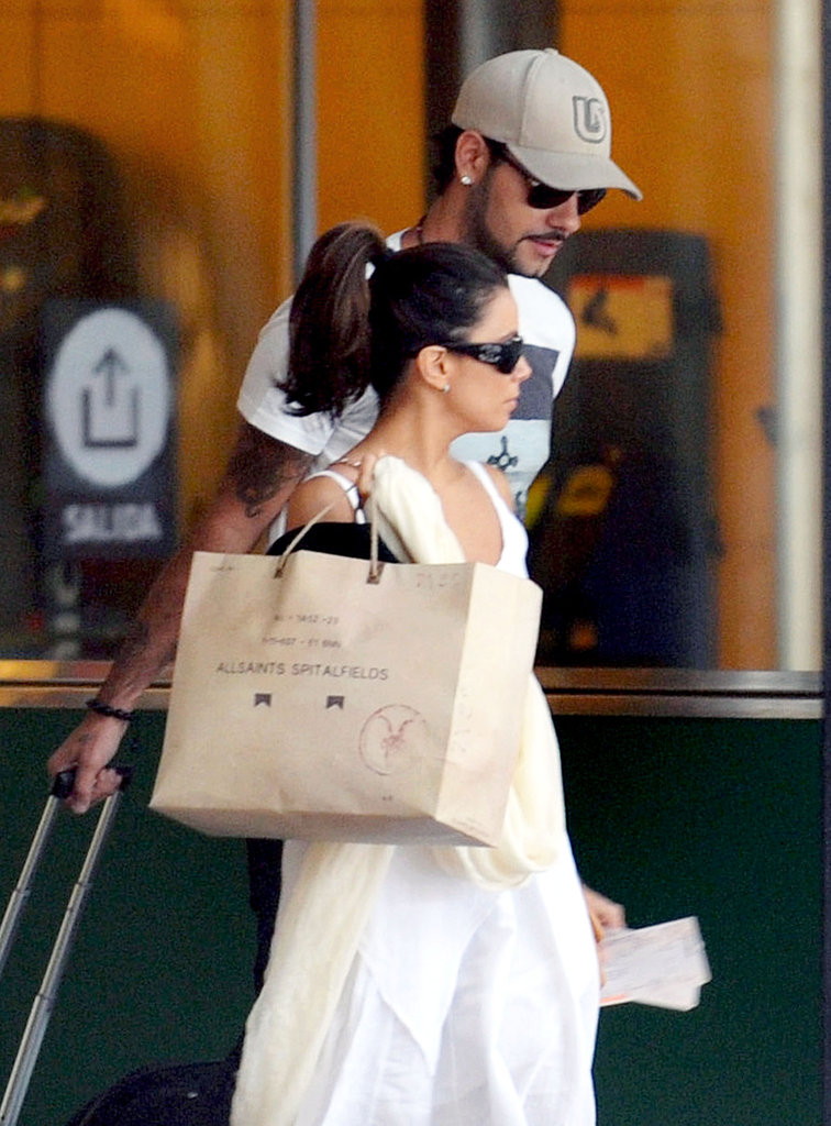 Eva Longoria looked cute in a high ponytail while she and boyfriend Eduardo Cruz were in Spain.