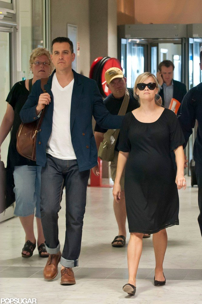 Reese Witherspoon landed in Cannes with her husband Jim Toth.