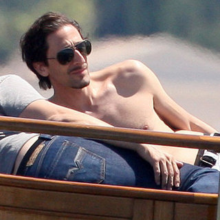 Shirtless Adrien Brody at the Cannes Film Festival