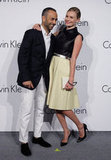 Kate Bosworth and Francisco Costa had a laugh together on the carpet at the event in South Korea.