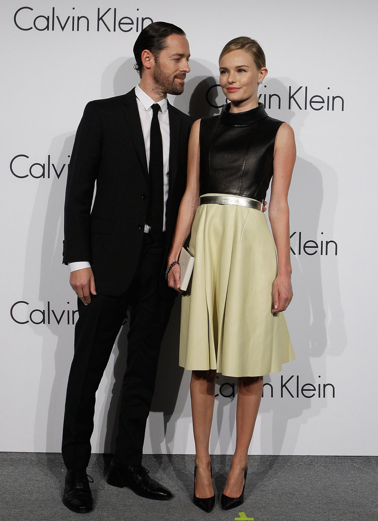 Michael Polish got close while Kate Bosworth posed for photos outside the event.