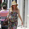 Pregnant Sienna Miller in a Boho Dress Pictures