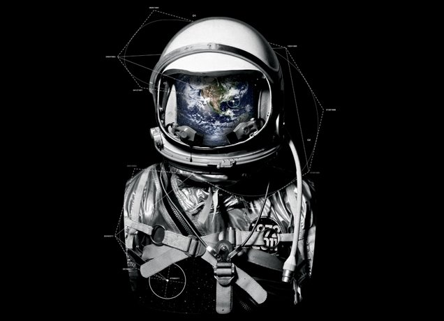 The Program tee ($20) has a cool reflection of the earth in the astronaut's helmet.