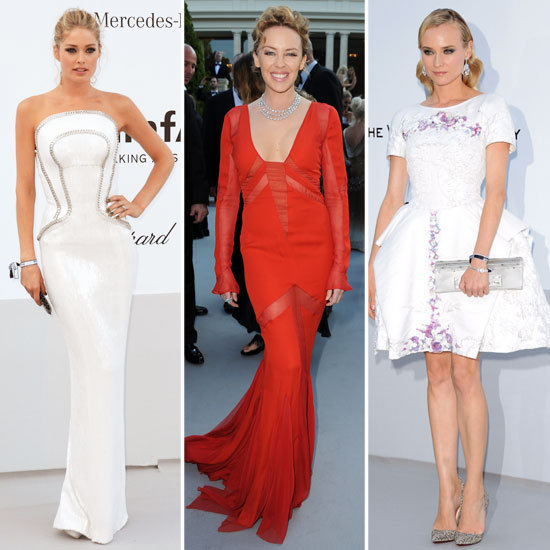 Celebrity Red Carpet Round-Up from the amfAR gala at the 2012 Cannes Film Festival: Kim Kardashian, Diane Kruger + Models Galore