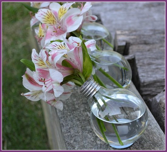 Lightbulbs as Decorative Vases