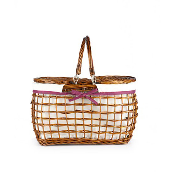 The open weave plus the perfect pop of pink make this Home Essentials Willow Picnic Basket ($38) a great pick.
