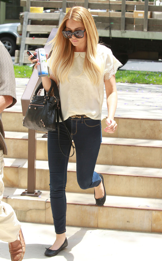 Lauren Conrad enjoyed the weather in LA.
