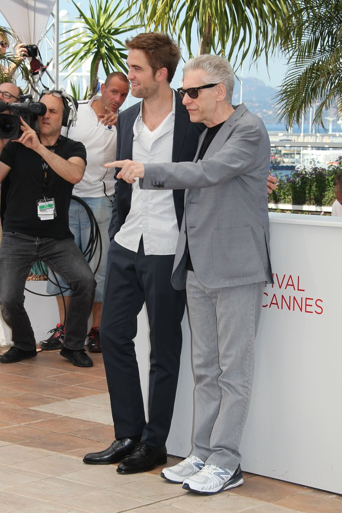 Robert Pattinson got together with David Cronenberg at the Cosmopolis photocall in Cannes.