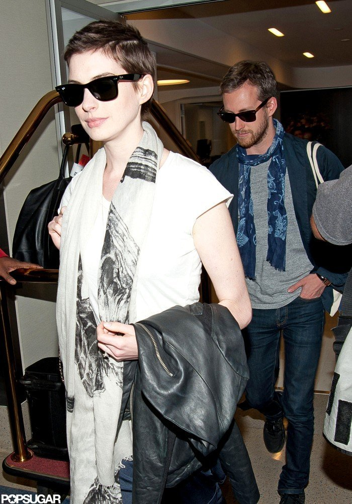 Anne Hathaway and Adam Shulman Stick Close From Coast to Coast