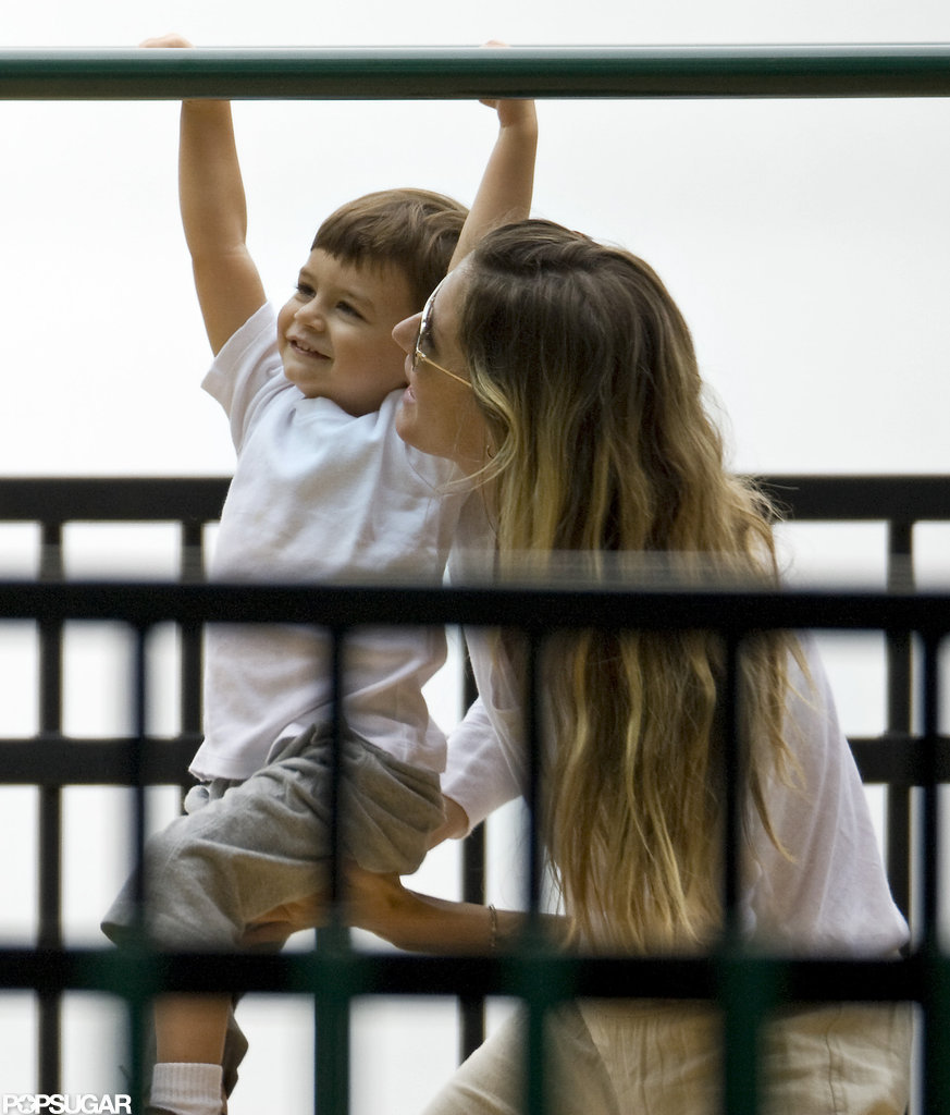 Gisele and Benjamin Swing Into the Holiday Weekend