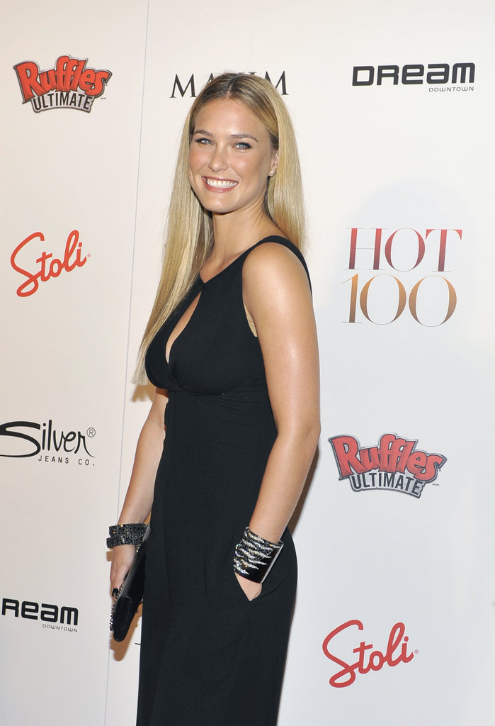 Bar Refaeli posed for photos at the Maxim Hot 100 List party in NYC.