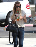 Lauren Conrad got an iced drink at Starbucks in LA.