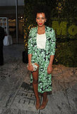 Solange opted for a colorful Flaminia Saccucci ensemble at the MoMA Party in the Garden Benefit in NYC.