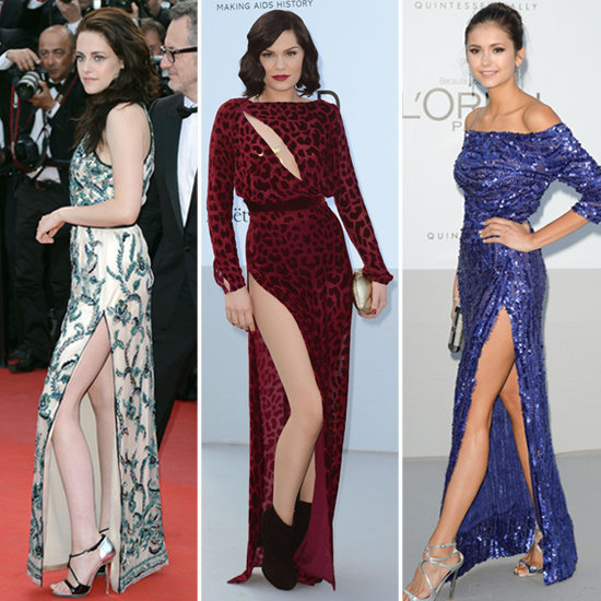 Check out the thigh-high slits taking celebrity style to a whole new level of glam.