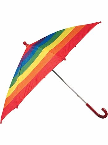 Stay Dry: Schylling Rainbow Umbrella ($14)