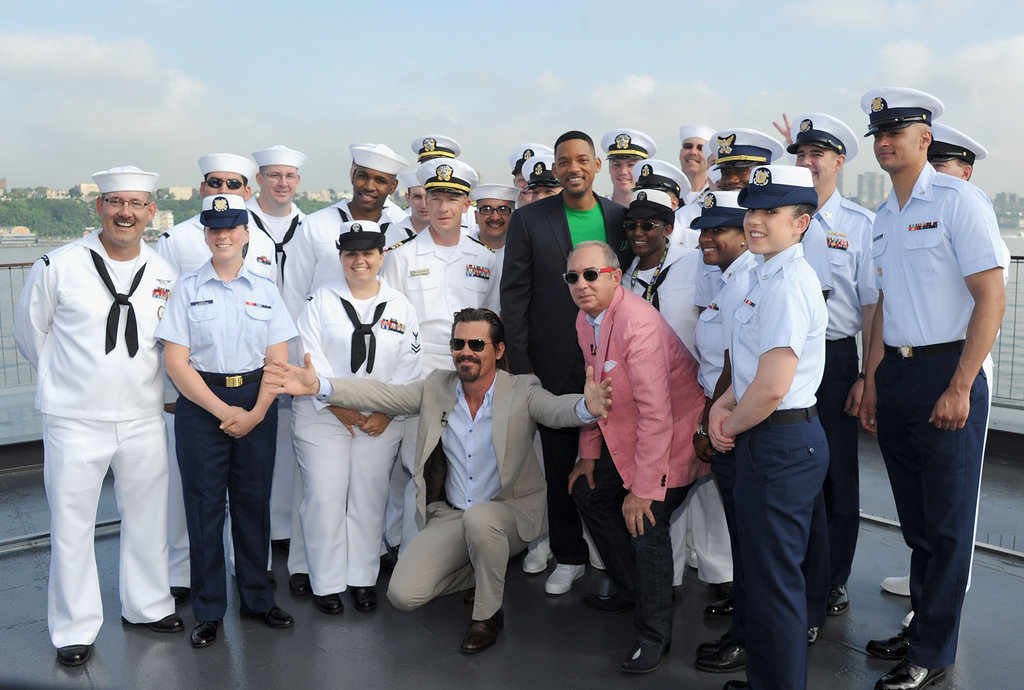 The Men in Black 3 cast got in on New York's Fleet Week celebrations.