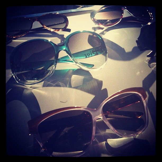 Pastel sunglasses courtesy of Dior.