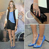 Olivia Palermo Perfects the Friday Night Drinks Dress Code: Stripes, Shorts and Manolos: Shop her Style via Shopstyle Australia