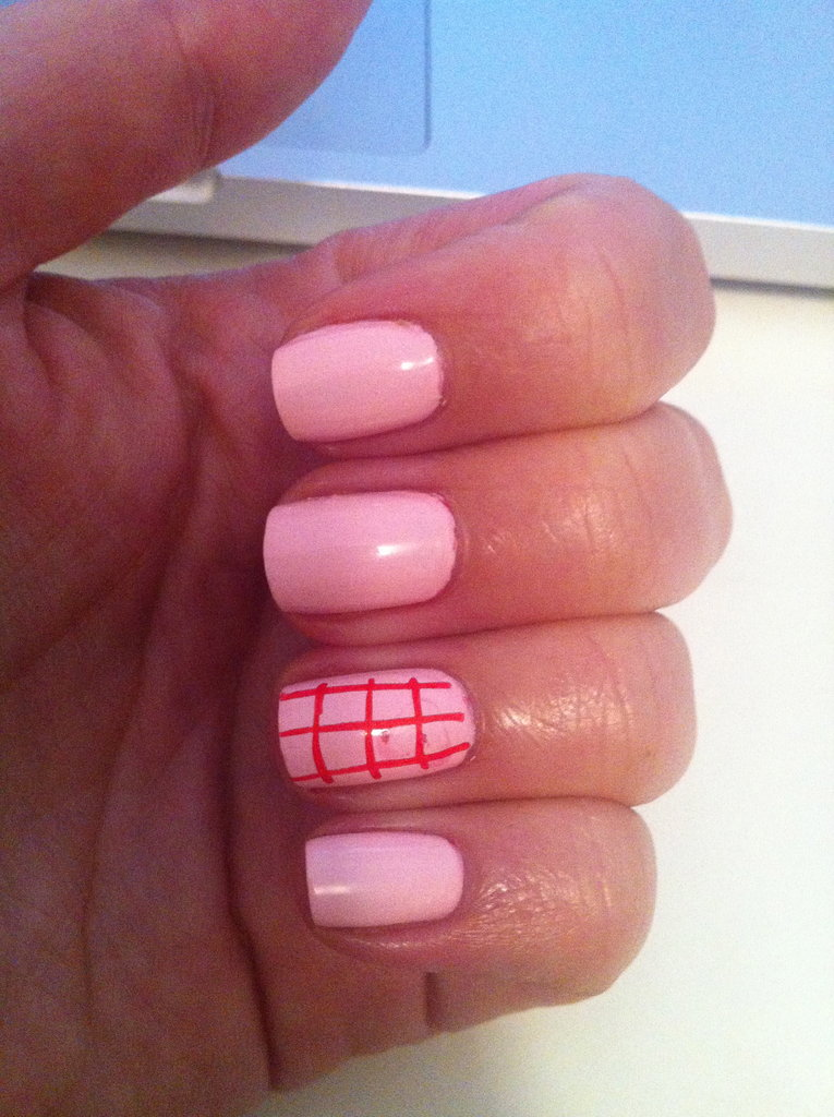Here's what I ended up with. Not the work of art I'd hoped for — but nail art nonetheless!