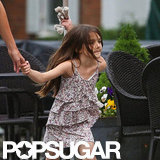 Suri Cruise wore a Spring dress.