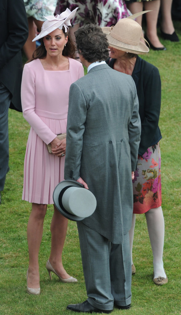 Kate Middleton paired her Emilia Wickstead dress with a hat.