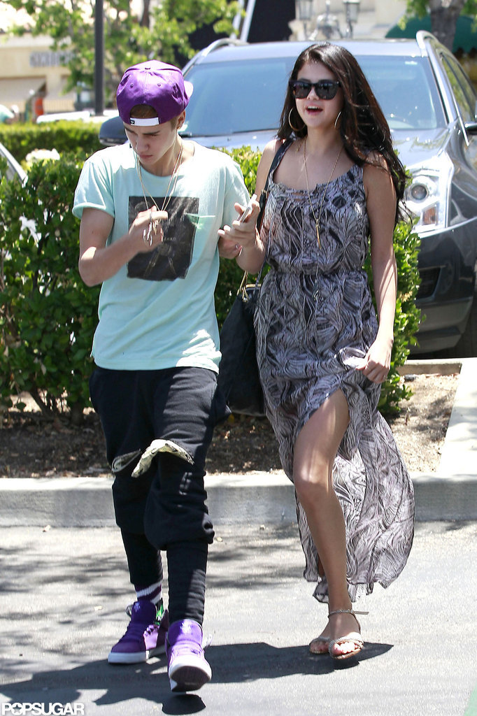 Selena Gomez and Justin Bieber Get Close For a Movie Date