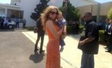 Mariah Carey held tight to baby Moroccan while visiting Morocco.  Source: Twitter user MariahCarey