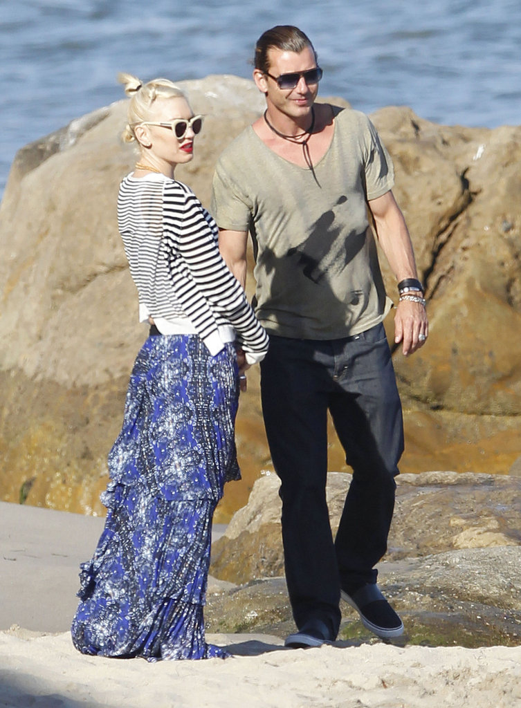 Gwen Stefani and Gavin Rossdale took the boys to the beach on Memorial Day.