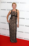 Naomi Watts wowed in a lace-infused Versace column dress, complete with sexy back cutouts.
