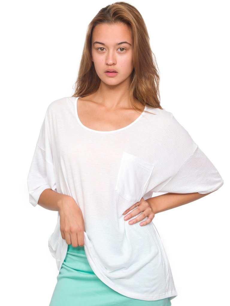 Ideal for Summer lounging and perfect for a cool denim short complement, this slouchy semi-sheer classic white t-shirt is perfect for every sunny occasion. American Apparel Unisex Le New Big Pocket Tee ($34)