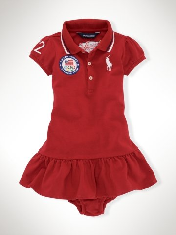 Infant Girls Team USA Polo Dress ($55)