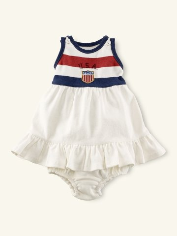 Layette Team USA Ruffle Tank Dress ($45)