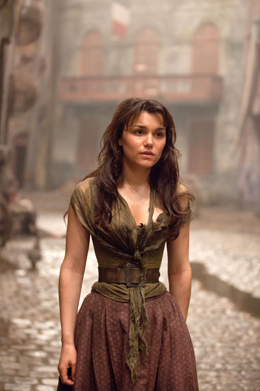 Samantha Barks as Eponine in Les Misérables.
