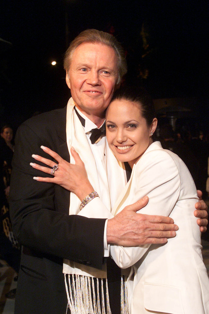 Angelina Jolie and her father, Jon Voight, attended the Vanity Fair Oscars party at Morton's in Beverly Hills in March 2001.