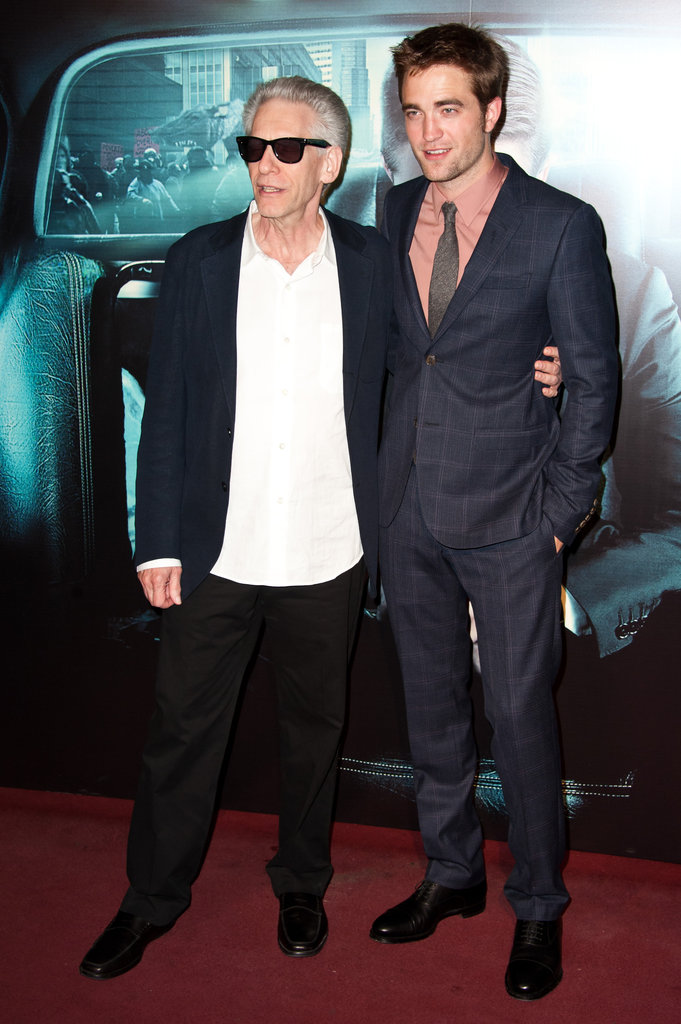 Robert Pattinson and David Cronenberg posed together at the Cosmopolis premiere in Paris.