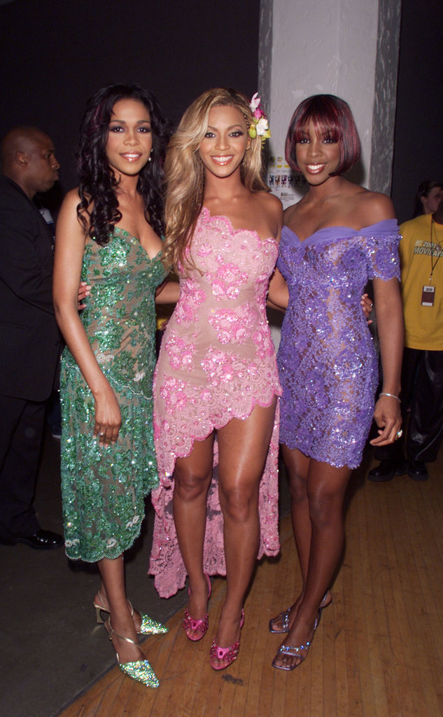 Beyoncé Knowles got together with her Destiny's Child band members, Kelly Rowland and Michelle Williams, back at the 2001 awards.