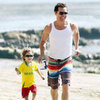 Matthew McConaughey Beach Pictures With Levi