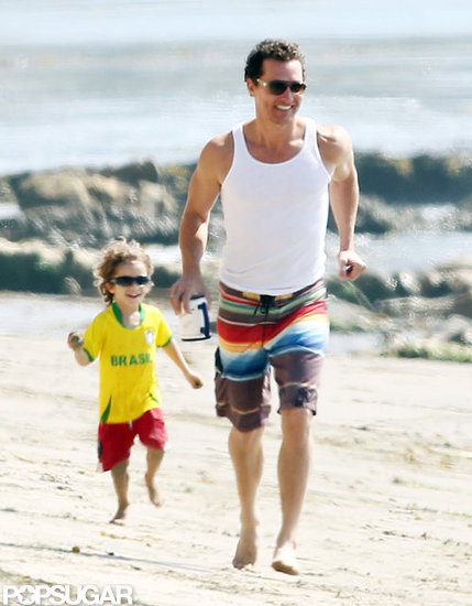 Matthew McConaughey Gets Back to the Beach With Levi