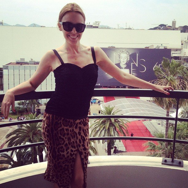 Kylie Minogue shared a photo in front of the Cannes Film Festival red carpet. Source: Instagram user kylieminogue