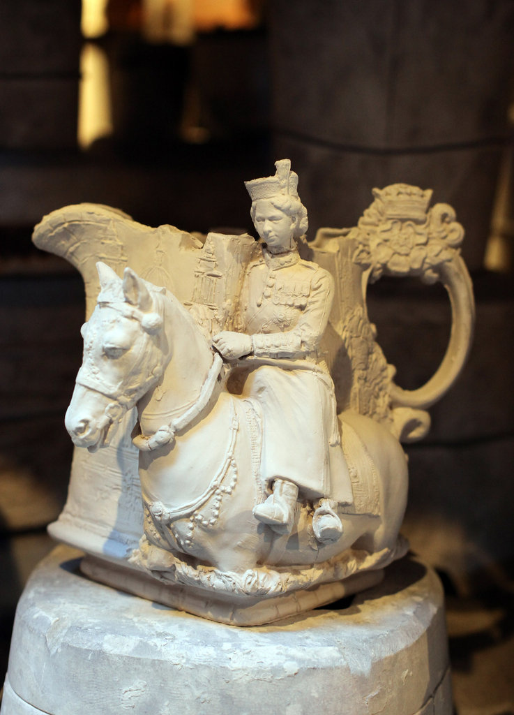 Diamond Jubilee pottery commemorated the reign of Queen Elizabeth II.