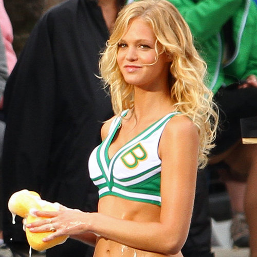 Erin Heatherton on the Set of Grown Ups 2 Pictures