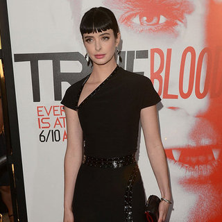 Krysten Ritter Black Dress Slit