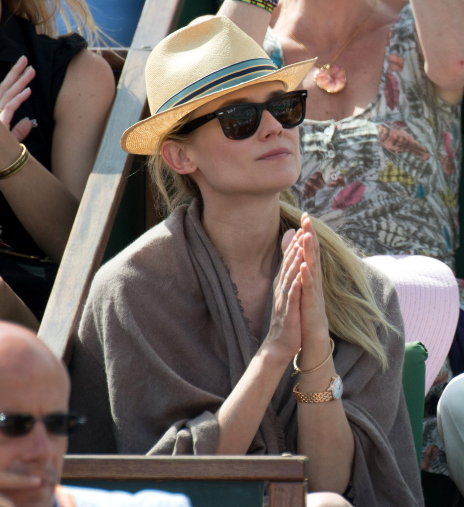 Diane Kruger clapped in Paris.