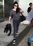Kristen Stewart headed out of JFK airport in NYC.