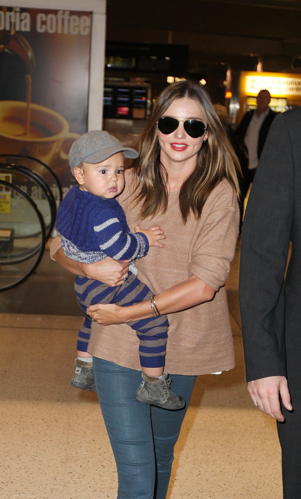 Miranda Kerr gave Flynn Bloom a lift.