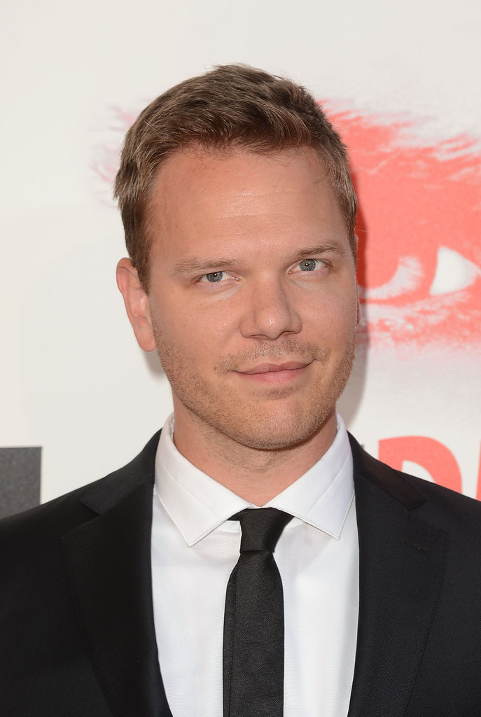 Jim Parrack looked dapper in a black suit.