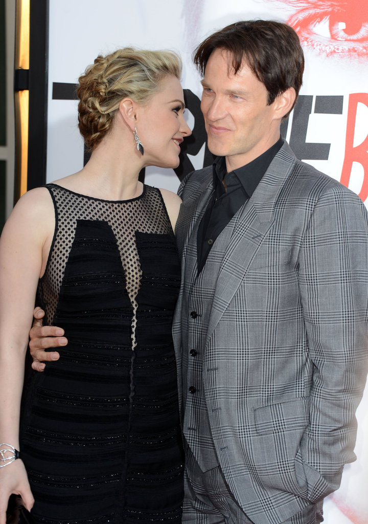 Anna Paquin had a chat with Stephen Moyer on the red carpet at the True Blood premiere.