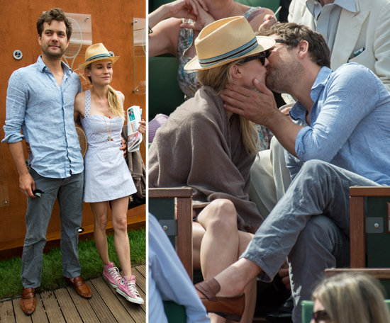 - Joshua-Jackson-Diane-Kruger-Kiss-Paris-French-Open-Pictures