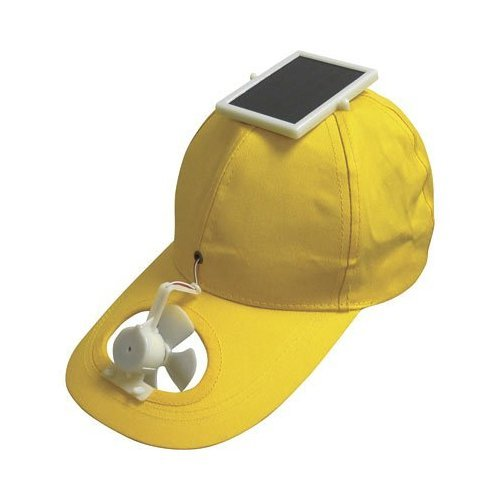 Want to win the award for Office Clown? Ridiculous, yes, and yet amazing, this Solar Hat ($20) has solar panels to charge up the fan on the cap and keep you so very entertained.