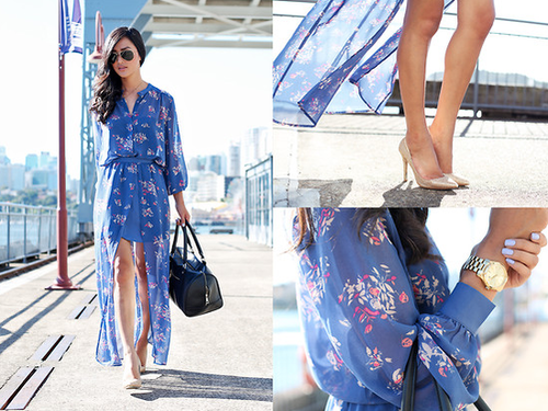 A sheer-skirted floral dress like this would make just as much of a statement with flat sandals as it does with heels — the best kind of all-occasion Summer dress.  Photo courtesy of Lookbook.nu